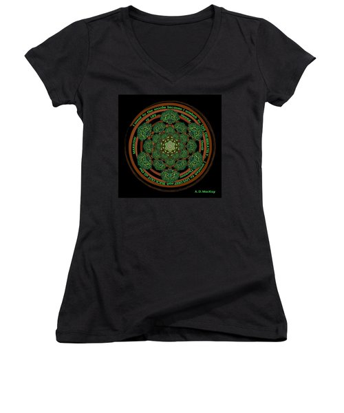 Celtic Tree Of Life Mandala Women's V-Neck (Athletic Fit)