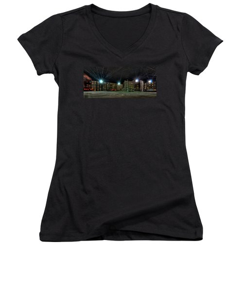 Central Area At Night Women's V-Neck