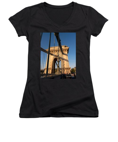 Chain Bridge Budapest  Women's V-Neck