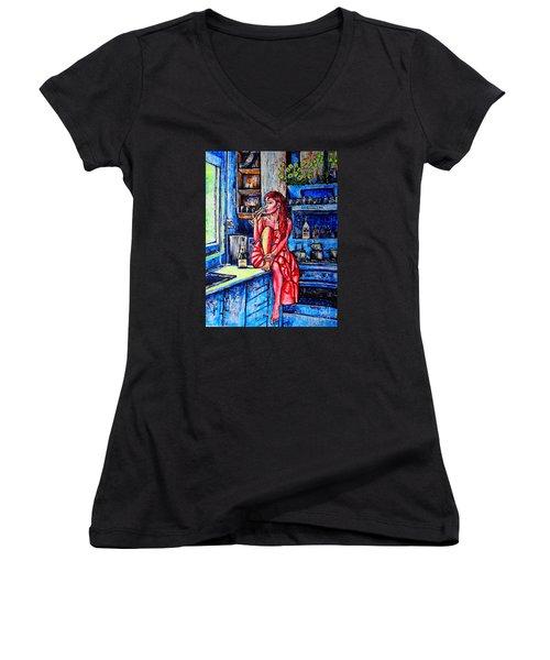 Champagne Women's V-Neck T-Shirt