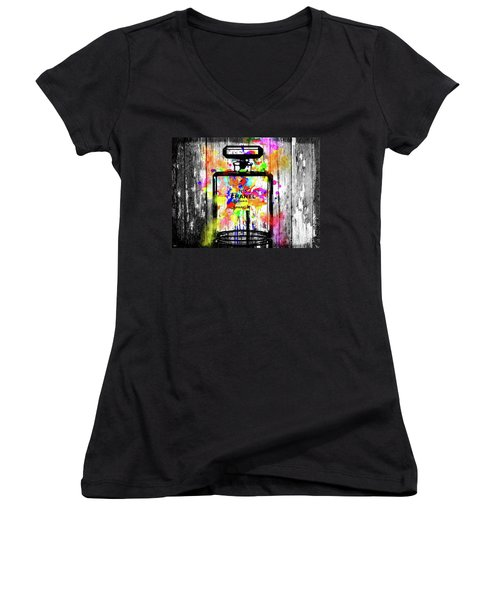 Chanel No. 5  Wooden Women's V-Neck T-Shirt