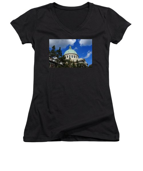 Chapel - Us Naval Academy 3 Women's V-Neck T-Shirt