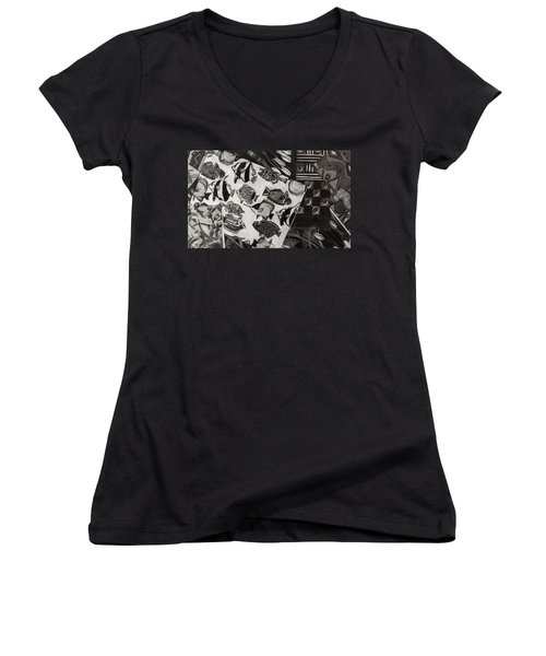 Charcoal Chaos Women's V-Neck (Athletic Fit)