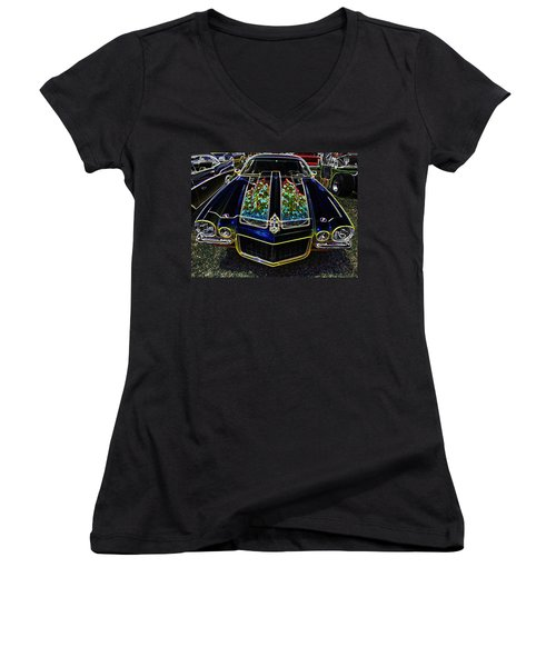 Charged Up Camaro Women's V-Neck (Athletic Fit)
