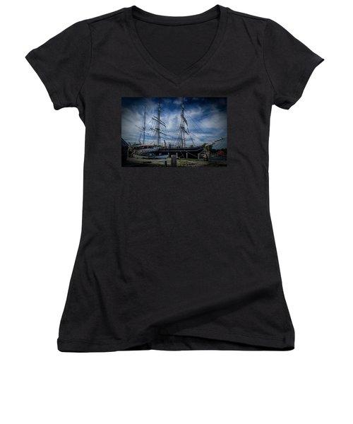 Charles W. Morgan #2 Women's V-Neck T-Shirt (Junior Cut)
