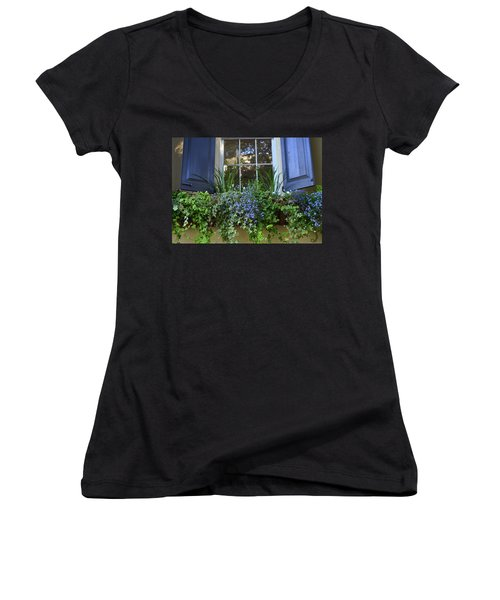 Charleston Flower Box 3 Women's V-Neck