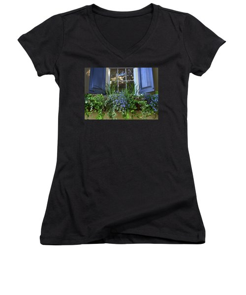 Charleston Flower Box 3 Women's V-Neck T-Shirt (Junior Cut)