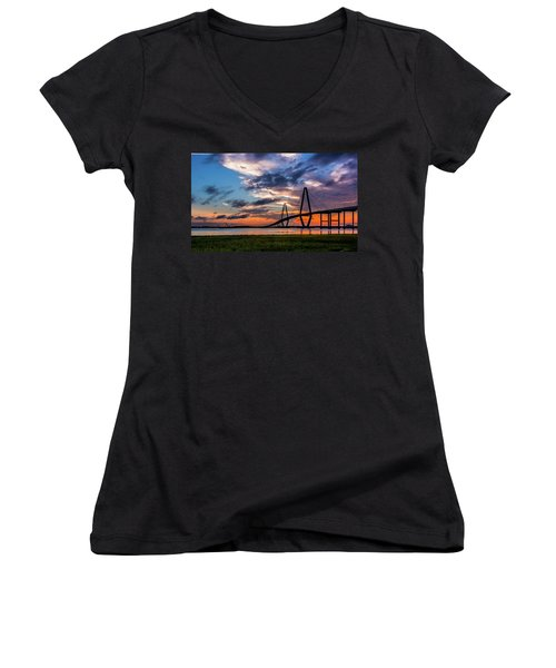 Charleston Women's V-Neck T-Shirt (Junior Cut) by RC Pics