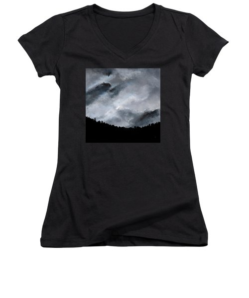 Chasing The Storm Women's V-Neck (Athletic Fit)