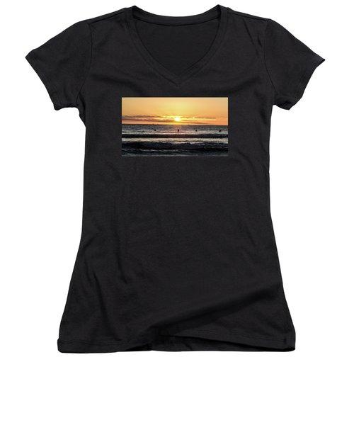 Chasing The Waves Women's V-Neck T-Shirt