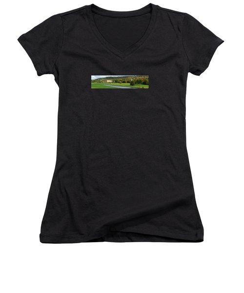 Chatsworth Panorama Women's V-Neck T-Shirt