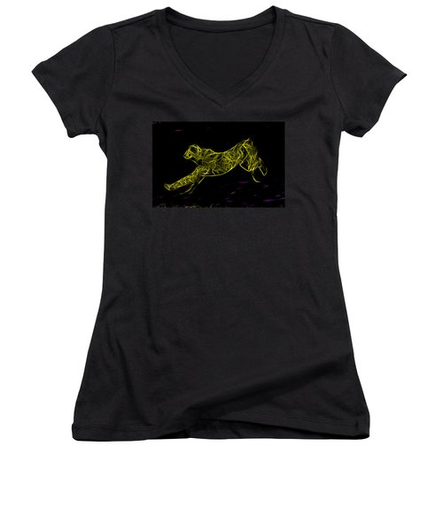 Cheetah Body Built For Speed Women's V-Neck T-Shirt