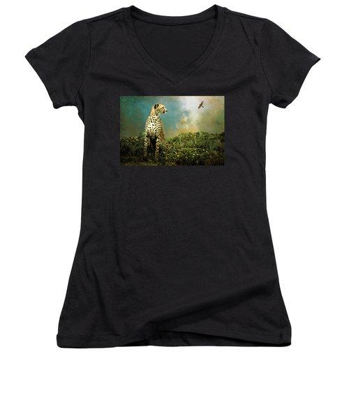 Cheetah Women's V-Neck T-Shirt