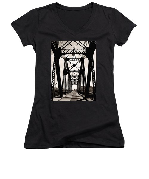 Cherry Avenue Bridge Women's V-Neck (Athletic Fit)