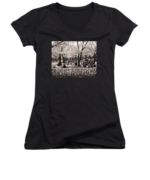 Cherry Blossom Festival Women's V-Neck T-Shirt