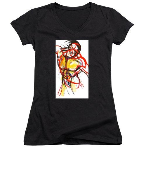 Chest Neck Study 1 Women's V-Neck T-Shirt