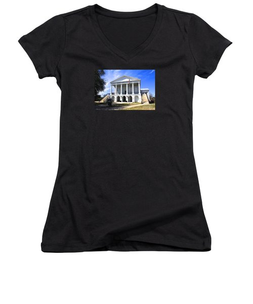 Chester South Carolina Court House Day 1 Women's V-Neck T-Shirt
