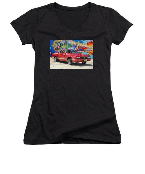 Chevrolet Monte Carlo Women's V-Neck (Athletic Fit)