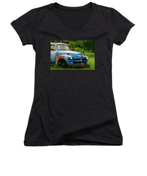 Chevy 6500 Farm Truck Women's V-Neck