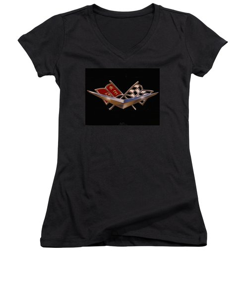 Chevy Flags  Women's V-Neck