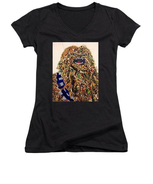 Chewbacca Star Wars Awakens Afrofuturist Collection Women's V-Neck