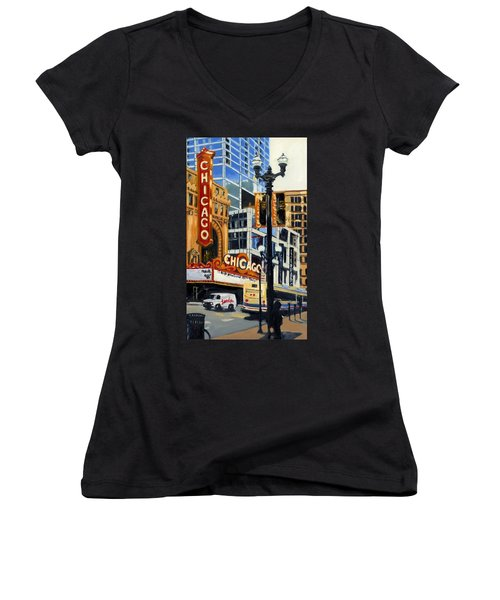Chicago - The Chicago Theater Women's V-Neck