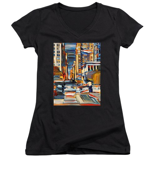 Chicago Colors 7 Women's V-Neck T-Shirt