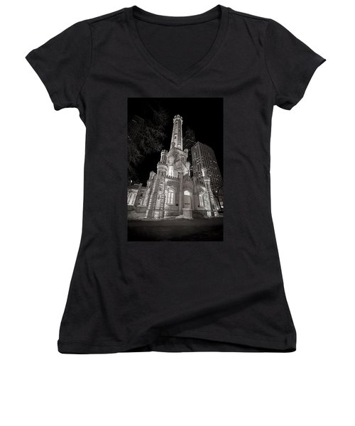 Chicago Water Tower Women's V-Neck T-Shirt