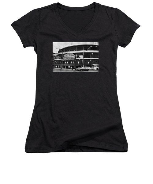 Chicago: Wrigley Field Women's V-Neck T-Shirt