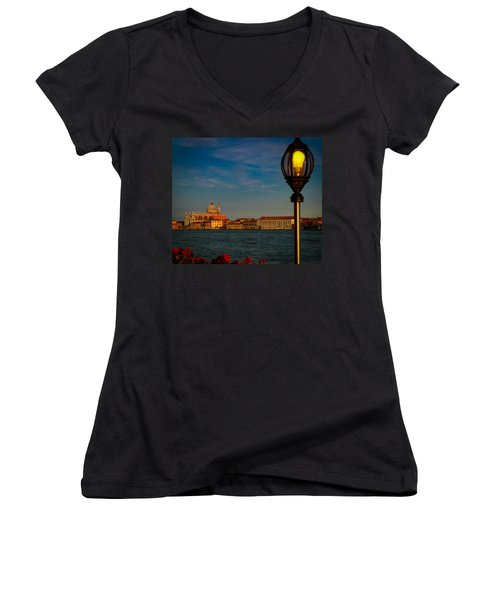 Women's V-Neck T-Shirt (Junior Cut) featuring the photograph Chiesa Del Santissimo Redentore by Kathleen Scanlan