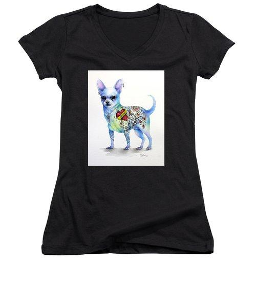 Chihuahua Topo Women's V-Neck T-Shirt