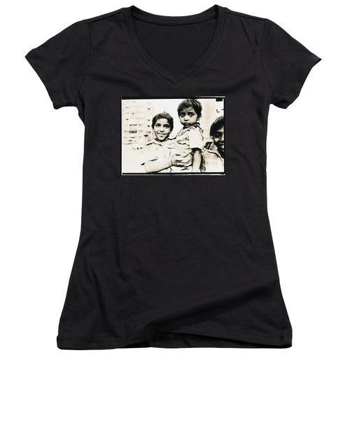 Of Hope And Fear, Children In Mexico Women's V-Neck (Athletic Fit)