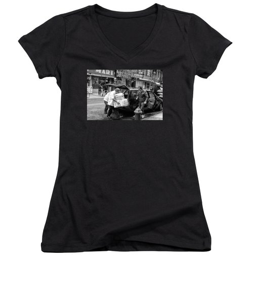 Chinatown Delivery Women's V-Neck (Athletic Fit)