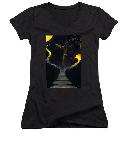 Chosen Path Women's V-Neck T-Shirt (Junior Cut) by Brian Wallace