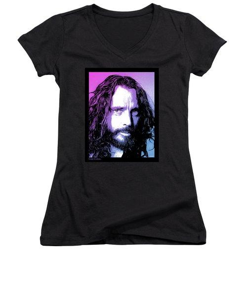 Chris Cornell Tribute Women's V-Neck