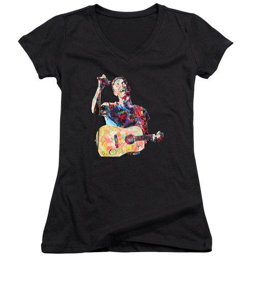Chris Martin Women's V-Neck T-Shirt