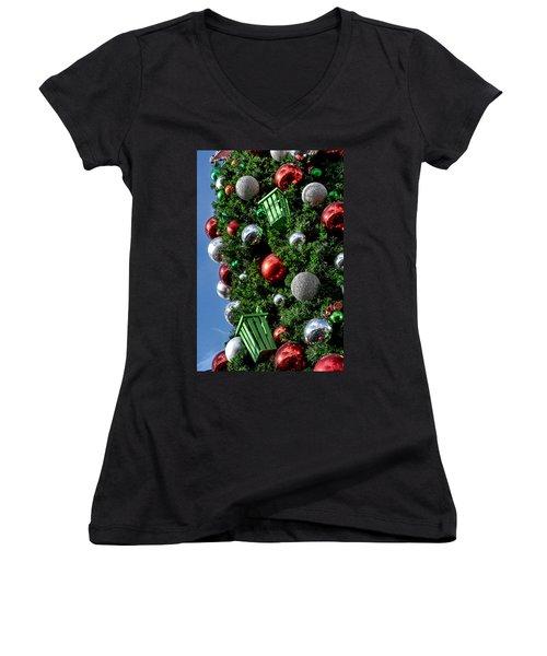 Christmas Balls Women's V-Neck