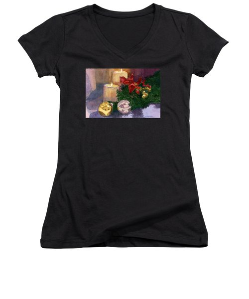 Christmas Glow Women's V-Neck