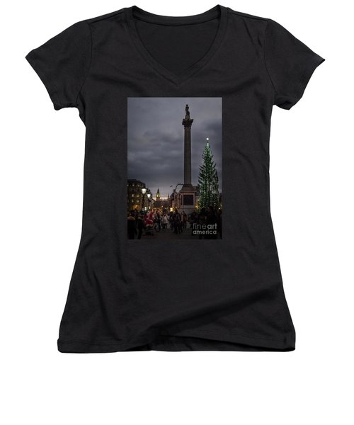 Christmas In Trafalgar Square, London Women's V-Neck T-Shirt