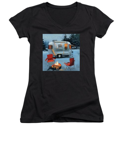 Christmas In The Snow Women's V-Neck (Athletic Fit)