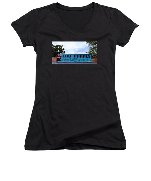 Chu - Mikals - Friendly Austin Texas Charm Women's V-Neck