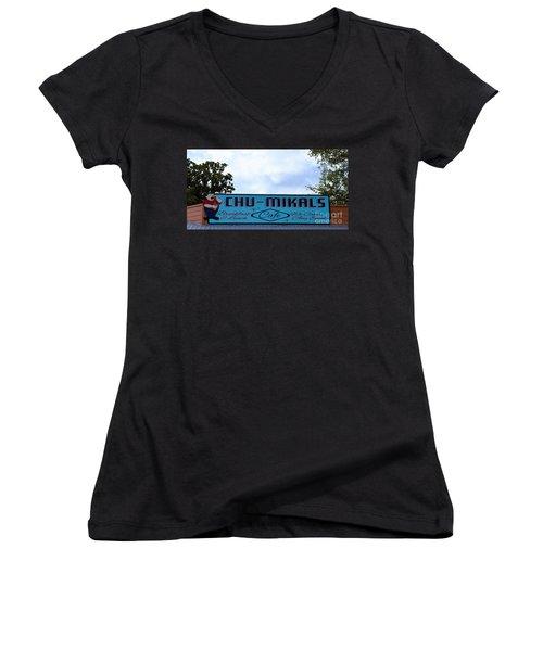 Chu - Mikals - Friendly Austin Texas Charm Women's V-Neck T-Shirt