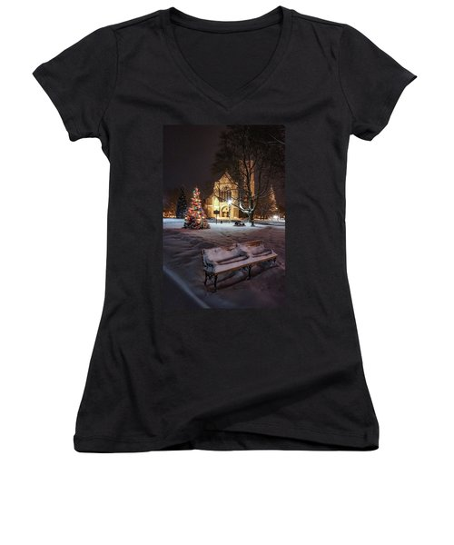 Church Of St Mary St Paul At Christmas Women's V-Neck