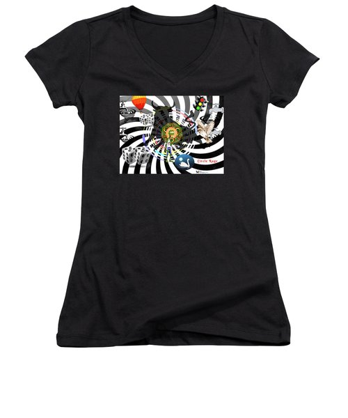 Circle Rage II Women's V-Neck (Athletic Fit)