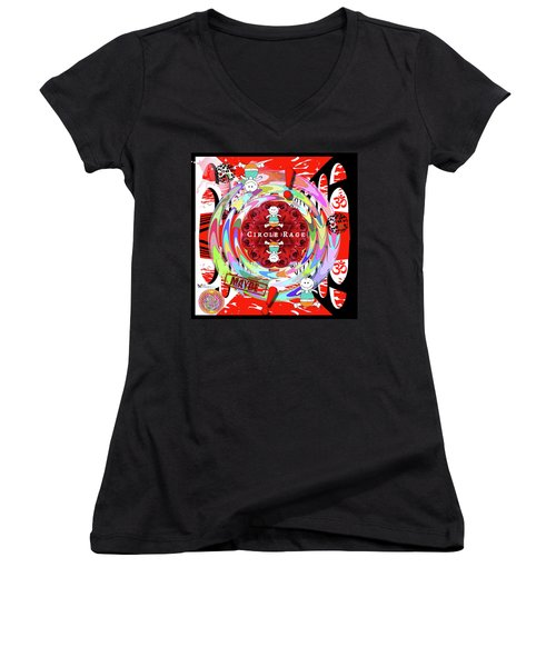 Circle Rage Women's V-Neck (Athletic Fit)