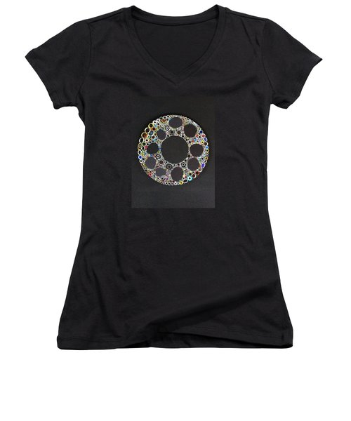 Circular Convergence Of Mutated Molecules Women's V-Neck T-Shirt