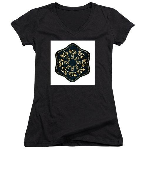 Circularium No. 2560 Women's V-Neck T-Shirt (Junior Cut) by Alan Bennington