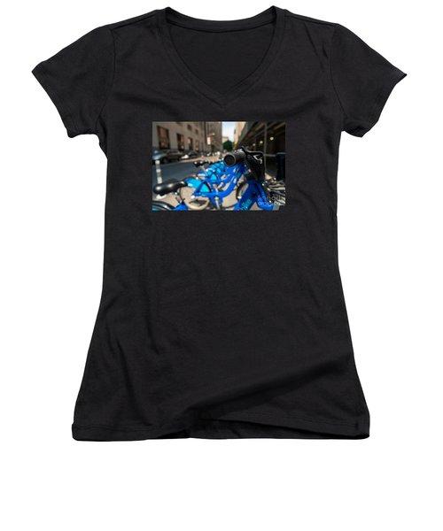 Citibike Handle Manhattan Color Women's V-Neck