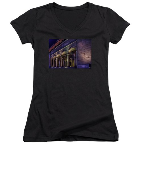 City Hall At Night Women's V-Neck