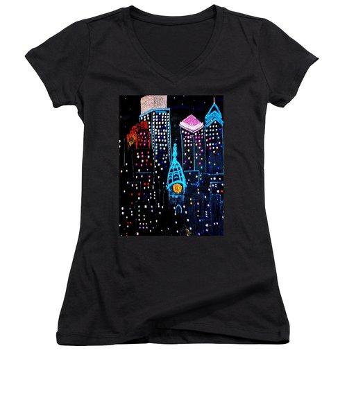 City Lights Women's V-Neck (Athletic Fit)